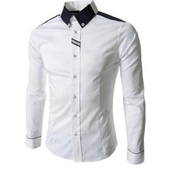 Amart Long-sleeved Shirt Businese Shirt Leisure Outwear Fashion Men's Clothing