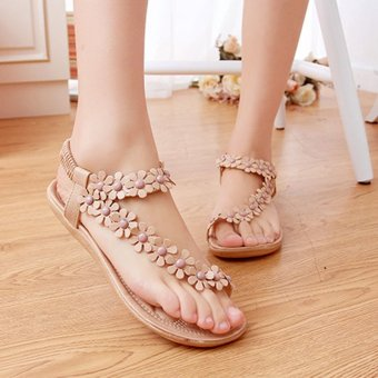 Amart Summer Lady's Sandals Fashion Bohemia Casual Thong FlatsShoes - intl