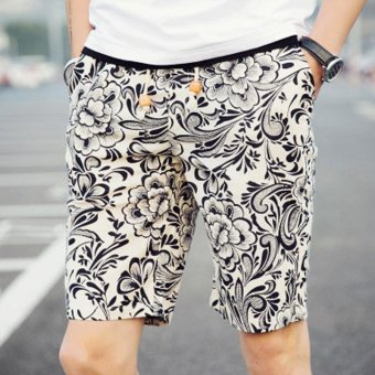 Amart Summer Men Beach Pants Printed Casual Swim Shorts - intl