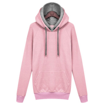 Amart Women Casual Solid Hoodies Hooded Sweatshirts Pockets Pullovers Tops