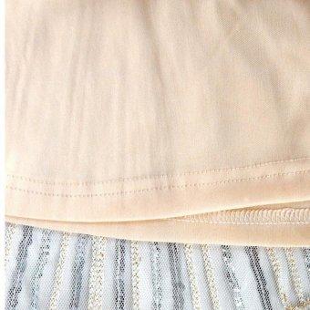 Amart Women Tassel Dress Vintage Fringe Evening Party Dresses (Beige) - intl - 5