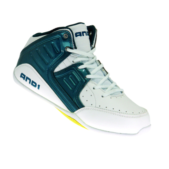 And1 Rocket 4.0 Junior Basketball Shoes (Blue/Yellow) - 2