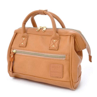 Anello Leather Mini Boston Shoulder Bag AT-H1021 (Camel)