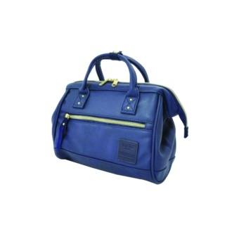 Anello PU Leather 2way Mini Boston Shoulder Bag/ Cross body bag(Navy Blue )