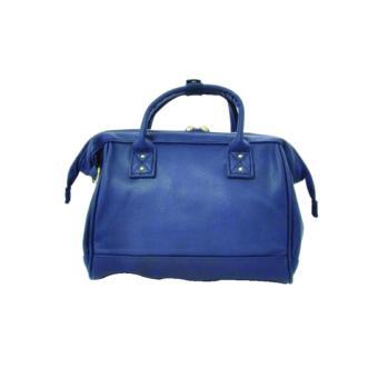 Anello PU Leather 2way Mini Boston Shoulder Bag/ Cross body bag(Navy Blue ) - 2