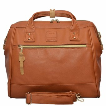 Anello PU Leather Boston Bag (Camel)