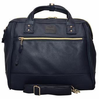 Anello PU Leather Boston Bag (Navy)