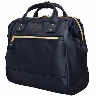 Anello PU Leather Boston Bag (Navy) - 2