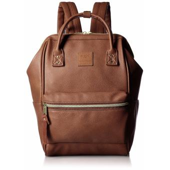 Anello PU Square Shaped Backpack Leather - Brown
