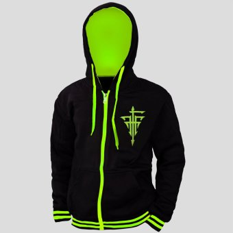 Anime Baka to Test to Shoukanjuu FFF Logo Cosplay Hoodie Outdoor Jacket (Neon Green/ Black)