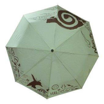Anime - Naruto Konoha Design Folded Umbrella ( Cream )