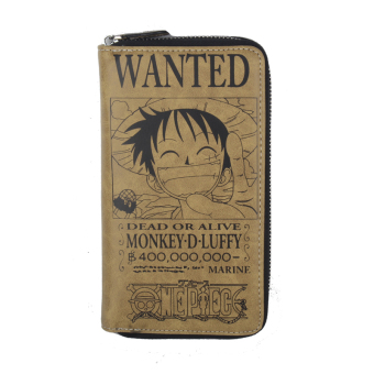 Anime One Piece D.Luffy Long Leather Wallet Purse Holder HandbagCoplay Collection - Intl Price Philippines