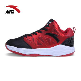 ANTA technology non-slip damping tournament boots basketball shoes (Black/red/ANTA white)