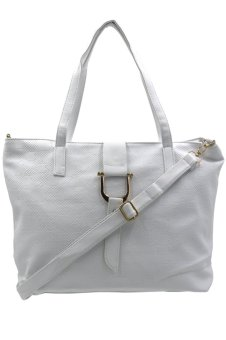 Anthea Trendy Weekender Women's Bag (White) - picture 2