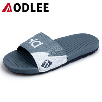AODLEE Fashion Men Sandals Slippers Slides Footwear Casual Shoes Breathable Gray - intl