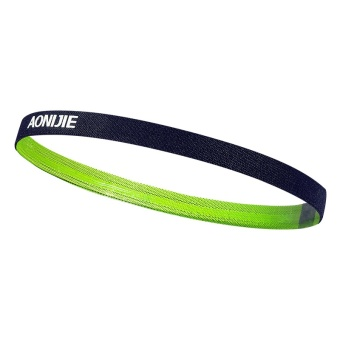 AONIJIE Men and Women Sports Running Hair Bands Anti-slip ElasticRubber Sweat Headband (Green) - intl