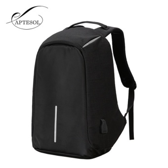 APTESOL Leisure Canvas Anti-theft Unisex Men and Women Backpacks Rucksack Business Travel 15inch Laptop Bag Fashion Male School College Bag Daypack with USB Charging Port - intl