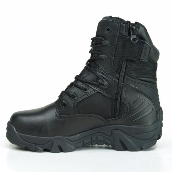 Army Male Commando Combat Desert Winter Outdoor Hiking Boots Landing Tactical Military Shoes (Size 36 - 45) Black - intl