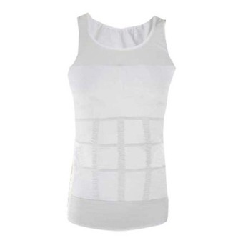 As Seen on TV Slim n Lift Men's Slimming Vest Large (White)