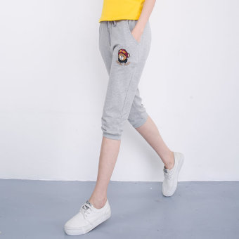 ASANGYA slimming Plus-sized shorts (Bear 057-light gray color) (Bear 057-light gray color)