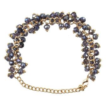 Athena Glimmer Crystal Beads Bracelet (Purple)