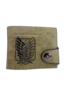 Attack on Titan Scouting Legion Recon Corps Logo Wallet Purse (Brown)