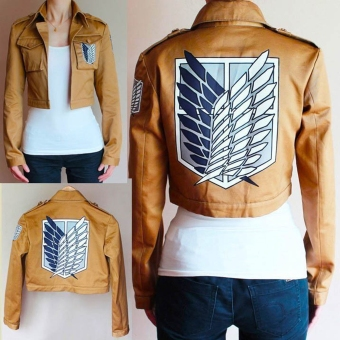 Attack On Titan Shingeki Kyojin Scouting Legion Cosplay Jacket Coat M - Intl