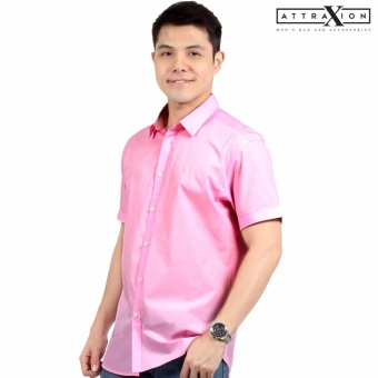 Attraxion Ambrose Plain Polo for Men (Pink)