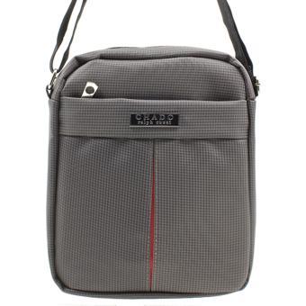 Attraxion Chado Sling Crossbody Bag for Men (Gray/Black) - 2
