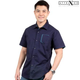 Attraxion Clarence Polo for Men (Navy Blue)