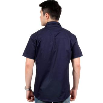 Attraxion Clarence Polo for Men (Navy Blue) - 3