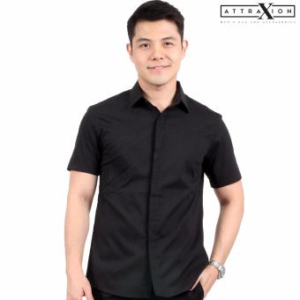 Attraxion Dean Embroidered Pattern Polo for Men (Black) - 2