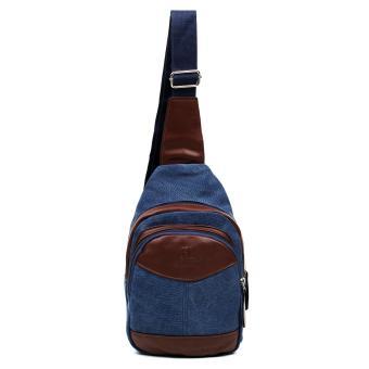 Attraxion Dickens Canvas Crossbody Bag for Men (Blue) - 2