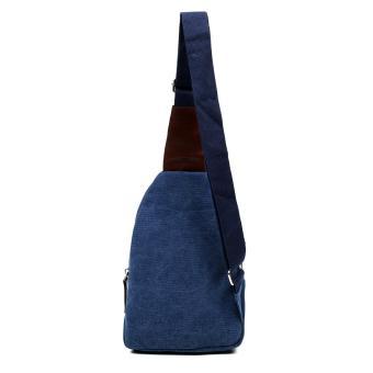 Attraxion Dickens Canvas Crossbody Bag for Men (Blue) - 3