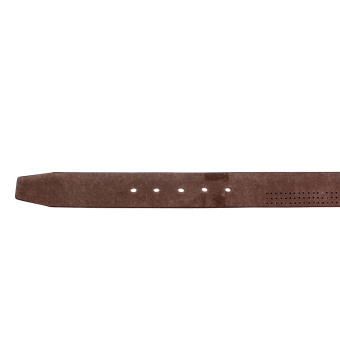 Attraxion Dustin 081 Genuine Leather Basic Belt for Men (Brown) - 4
