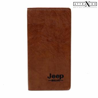 Attraxion Harley Leather Wallet for Men (Brown)