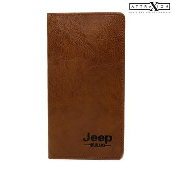 Attraxion Harley Leather Wallet for Men (Light Brown)