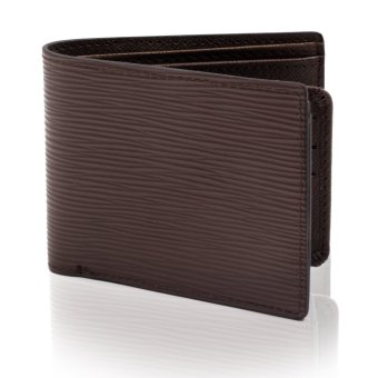 Attraxion Leather Wallet For Men Line Textured Design (Brown)