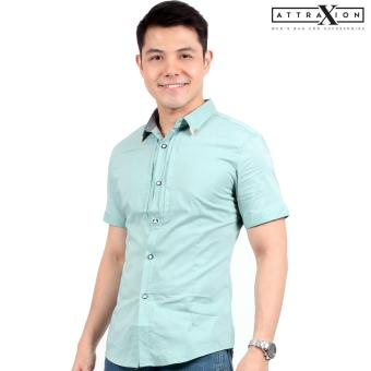 Attraxion Malcolm Plain Polo for Men (Green)