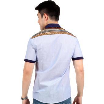 Attraxion Norman Bohemian Stripe Polo for Men (Blue) - 3