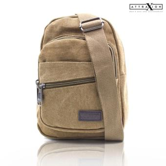 Attraxion Pierce - 9821 Sling Crossbody Bag for Men (Brown)