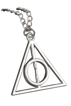 Aukey Vintage Triangle Pendant Deathly Hallows Necklace (Silver)