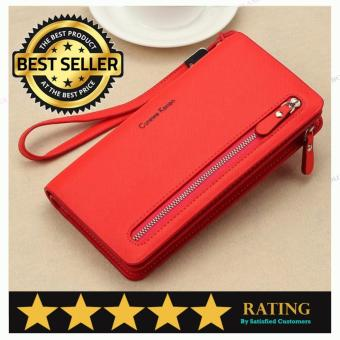 Authentic Curewe Kerien - Multifunction Long Wallet (HOT RED COLOR)
