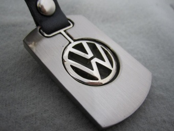 Automobile vw logo badge emblem mark 3D key ring chain keyringkeychain VW accessories metal auto car logo 4s gift - intl