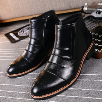 Autumn and Winter british style men's fashion formal leather shoes ankle boots