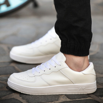 Autumn and Winter men's casual shoes men shoes (A12 white)