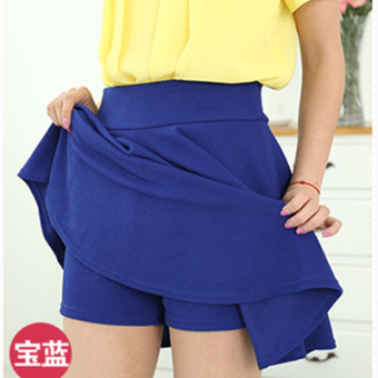 Autumn and Winter mm200 word Plus-sized skirt (Sapphire blue color)