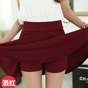 Autumn and Winter mm200 word Plus-sized skirt (Wine red color)