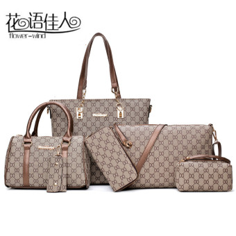 Autumn and Winter new different size bags women's bag (Brown)