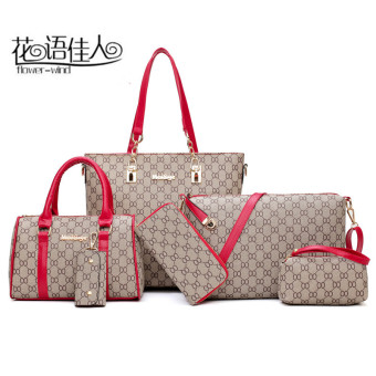 Autumn and Winter new different size bags women's bag (Red)